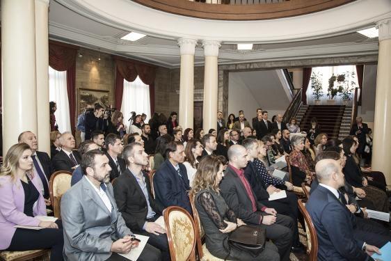 """Церемонията по връчване на марката """"Високи постижения в иновациите"""" на Фондация """"Приложни изследвания и комуникации"""", 30 януари 2020 г., Президенство"""