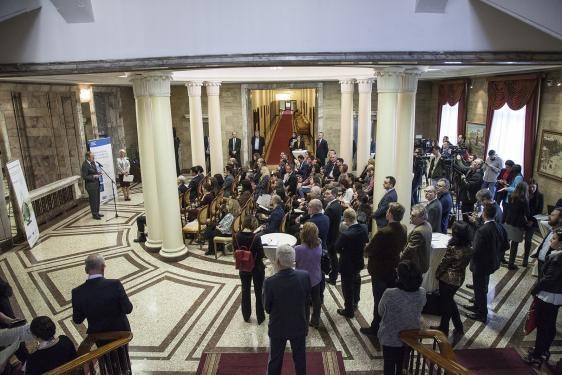 """Церемония по връчване на марката """"Високи постижения в иновациите"""" на Фондация """"Приложни изследвания и комуникации"""", 30 януари 2020 г., Президенство"""